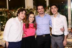 Luciano, Lissa, Ivens Neto e Luca Dias Branco
