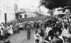 ANTES: desfile dos Pracinhas para 2ª Guerra Mundial. (Foto: Arquivo Nirez)