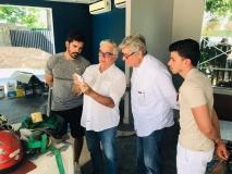 Amarilio Macedo visita ambiente em homenagem à J. Macêdo
