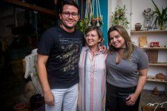 Flávio Lopes, Cândida Lopes e Renata Benevides