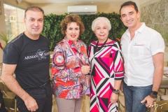 Bira Bazani, Leda Maria, Alódia Guimarães e Rosalvo Ponte