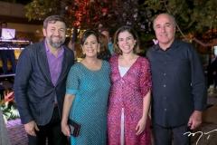 Elcio Batista, Neuma Figueiredo, Carol Bezerra e Silvio Frota