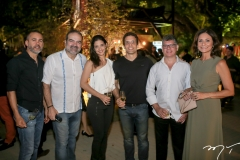 Gustavo Espalter, Bosco Couto, Isabel e Alexandre Studart, Nino Carielo e Ana Mendes