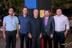 Thomaz, Victor e Silvio Frota, Elcio Batista e Omar Macedo