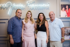 Valdizio e Daniele Pinheiro, Márcia e Fernando Travessoni