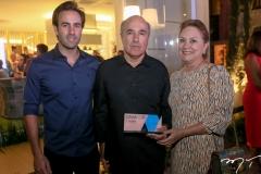 Vitor, Silvio e Paula Frota