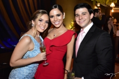 Mariana Brasil, Nicole Vasconcelos e Pedro Paulo