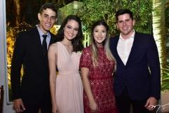 Rafael Benevides, Iasmim Nascimento, Vanessa Xavier e Guilherme Pinheiro