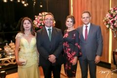 Aurora Bastos, Romildo Rolim, Lurdinha Carvalho e Claudio Freire