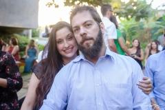 Felipe Cazaux e Carolina Lustosa