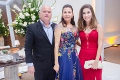 Augusto Esmeraldo, Lourdes Rodrigues e Larissa Rodrigues