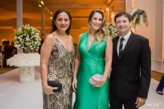 Júlia Oliveira, Daniela Ginelli e Fernando Barros