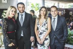 Virna Pinto, Lucas Valença, Larissa Lima e Franzé Bardawil