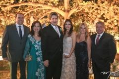 George e Martinha Assunção, Lúcio Bonfim, Lorena Pouchain, Letícia e Ricardo Studart