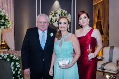 Carlos Silva, Eugênia e Mariana Landim