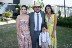 Priscila, Diego, Maria e Lorenzo Barbosa