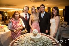 Lenira, Fernando Furtado, Fernanda e Gustavo Arruda, com Zélia Furtado