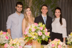 Victor Pinheiro, Fernanda e Gustavo Arruda, com Lia Studart