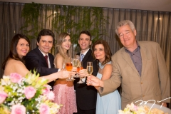 Zélia e Fernando Furtado, com Fernanda, Gustavo e Denise Arruda e Gilson Gondim