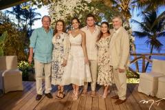 Wilton Correia Lima, Geni e Fernanda Levy, Omar, Patrícia e Amarilio Macêdo