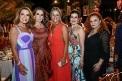 Maira Silva, Roberta Nogueira, Celia Magalhães, Lia-Linhares e Liuseux Brasil