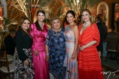 Nekita Romcy, Liliane Farias, Consuelo Dias Branco, Maria Lucia Negrão e Morgana Dias Branco