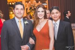 Rafael, Denise e Wilson Carneiro