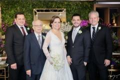 Augusto, Augusto, Isabelle, Augusto Neto e Bira Borges