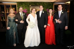 Thamara e Rodrigo Azevedo, Isabelle Borges e Luiz Claudio, Mariana e Leonardo Albuquerque