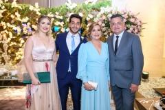 Paula Linhares, Hugo e Graça Santiago e Wedson Fernandes