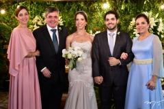 Joana, Totonho, Natércia, Fernando Victor e Elusa Laprovitera