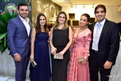 Rafael e Anne Tavares, Marcela Holanda, Lidiana e Bruno Medeiros