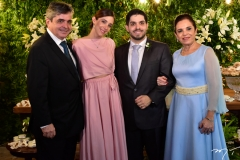 Totonho, Joana, Victor e Elusa Laprovitera