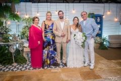 Ila Bezerra, Andréa Delfino, Rafael Batista, Gabriela Guedes e Raimundo Delfino