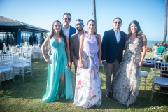 Larissa Leite, Vitor Parente, Wendy, Rodrigo Lira, Dandara Araújo e Tales Lins