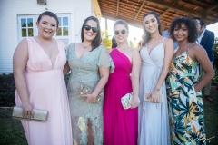 Melissa Ribeiro, Caroline Conrado, Larissa Bizinelli, Eloá Bessa e Marcele Vieira