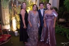 Norma Osterno, Meyra e Jacaúna Aguiar e Sandra Osterno