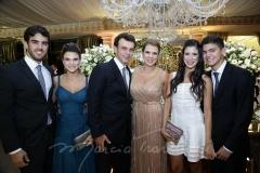 Lucas Ximenes , Mariana, Fred, Alexandra, Marcela Pinto e Otávio Queiroz