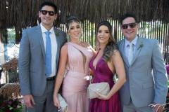 Boni Serra, Bruna Martins, Paula Albuquerque e Guilherme Andrade