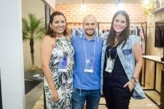 Deline Matos, Felipe Feraro e Nayra Gusmão