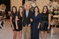 Henrique e Veridiana Soárez  e família
