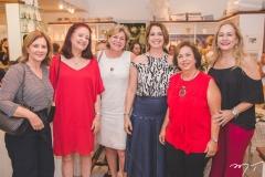 Fernanda Matoso, Ediane Carneiro, Stella Rolim, Márcia Andréa, Júlia Philomeno e Sarah Philomeno