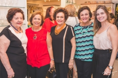 Laura Férrer, Júlia Philomeno, Constança Távora, Diva Teles e Gisela Franck