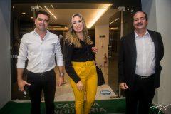 Felipe Rocha, Samira Batista e Paulo André Holanda.