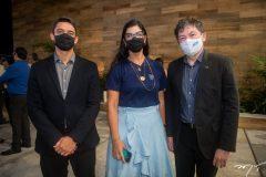 Rodrigo Bourbom, Karine Frota e Edgar Gadelha