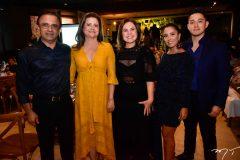 Alcir e Helga Feitosa, Gyna Machado, Thinally e Pedro Xavier