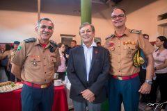 Cel. Zélio Menezes, Otacílio Valente e Cel. Luiz Eduardo Holanda