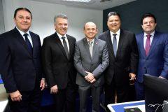 Eliseu Barros, Ferruccio Feitosa, Sérgio Aguiar, Colombo Cialdini e Fernando Ferrer