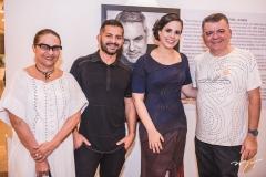 Inêz Villaventura, Régis Vieira,  Luara Ciarlini e Omar de Albuquerque