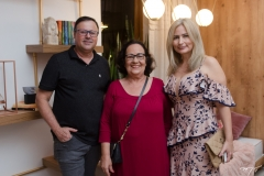 François Charron, Nereide Figueiredo e Linda Nunes